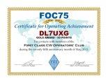 FOC 75 Award
